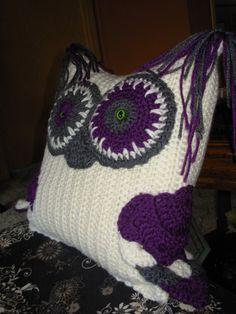 Crochet Owl Pillow Owl Pillows, Crochet Owls, Owl Crochet