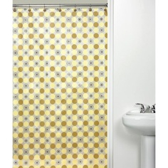 Orbit Yellow Shower Curtain  $16.98 Walmart