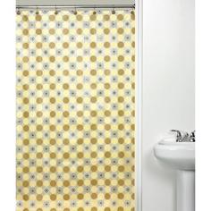 Orbit Yellow Shower Curtain  $16.98 Walmart beauti bathroom, showers, citi hous, curtain 1698, curtain 1699, yellow shower, orbit yellow, shower curtains