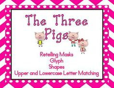 The Three Pigs PK-K- Math Glyph, Shapes, Letters $