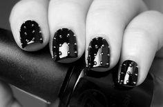 spike, nail polish, nailpolish, nail designs, michael kors