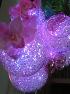 glowing table pieces