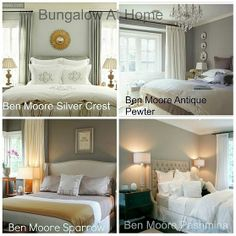 Four (4) favorite paints from Benjamin Moore Bedroom Paint Colors