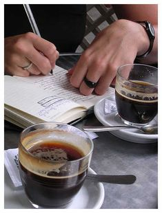 coffee, journal, everything
