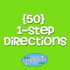 Free (50) 1 Step Directions for Speech Therapy Practice