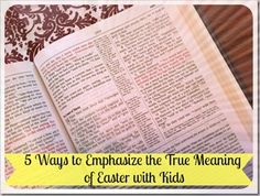 Simple Ideas to Emphasize the Meaning of Easter with Your Kids | 4tunate.net