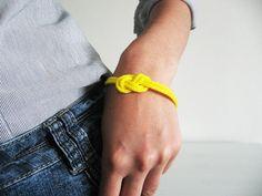 Neon rope bracelet- selenedream.etsy.com
