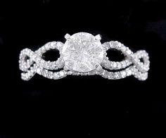 jareds engagement rings, 14k white, diamonds, ct diamond, weddings, 2 ct engagement ring, round engagement ring set, 140 ct, white gold