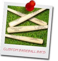 Order your Custom engraved Louisville Slugger baseball bats here!  Great for groomsman gifts and baseball wedding guestbooks.  #baseballwedding #stwdotcom