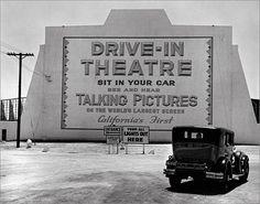 Drive-in theatre, 1930s First in CA.
