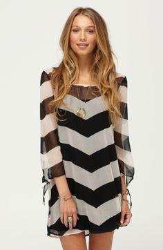 3 season dress...gorgeous black/white chevron