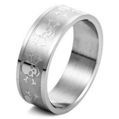 Amazon.com: SKULL MENS Stainless Steel Ring Band Size 11: Justeel: Jewelry $3.99