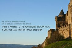 Travel with your eyes open #travel #quote