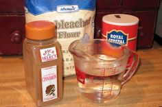 Cinnamon salt dough