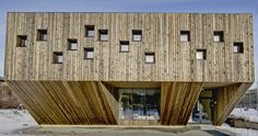 Wood-clad nursery school in Oslo, Norway