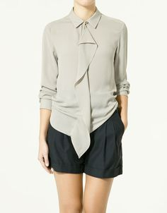 grey shorts one ruffle top