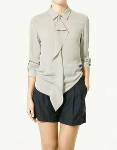 grey shorts one ruffle top