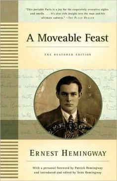 A Moveable Feast: Ernest Hemingway. I read this book on a flight from San Diego to Chicago and finished it in less than 6 hours. Loved it.