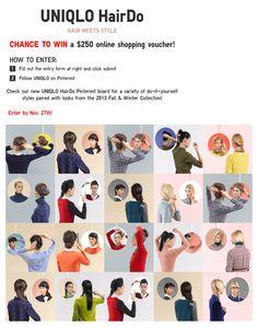 Uniqlo Hair Contest! Enter today #uniqlo #fashion #hair