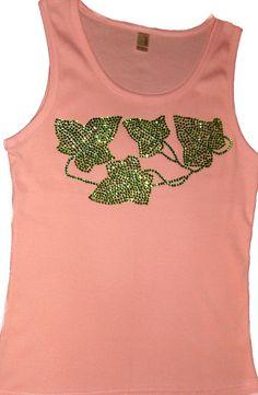 Pink and green rhinestone Ivy
