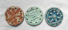 2 1/4 in. Round Ceramic Centers Bases for Pine Needle Baskets on Etsy, $8.00
