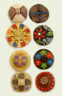 Colourful VIntage Glass Buttons
