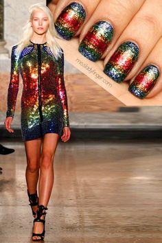 Emilio Pucci Spring '14 #nail #nails #nailart #nail #nailart #woman #moda #cute #love