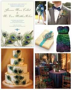 Peacock Wedding Inspiration Board by papersnaps.com