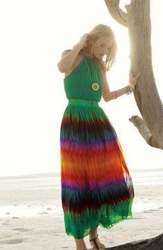 Vince Camuto 'Mirror Rainbow' Maxi Skirt | #Nordstrom