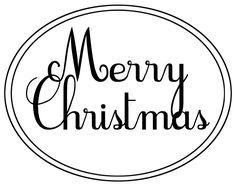 Merry Christmas oval