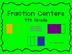 $ This package contains 4, 4th grade fraction centers that address 3 different CCLS.  Activities can be done independently or in pairs.  Each center comes with teacher information, student directions and recording sheets.