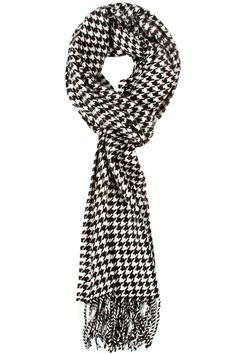 Andrew Houndstooth Scarf - Perfect for Alabama football season! #RTR  RollTideWarEagle.com great sports stories, audio podcast and FREE on line tutorial of college football rules. #CollegeFootball #Houndstooth #Alabama