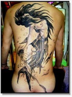 Amazing Tattoo Art... B Mermaid... beautiful...