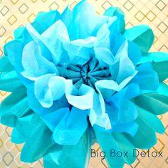 Big Box Detox: DIY Paper Pompoms