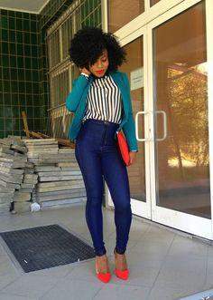 accessori, girl fashion, style hair, outfit, natur hair, natural hair styles, fashion pants, blog, bold colors