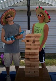 Way to go 2 amigos ... Havin a good time outdoors or in !! www.tumblingtowers.com