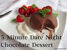 5 Minute Date Night Chocolate Dessert and an Insane Giveaway. Check it out at http://www.beyondthepeel.net/2012/10/5-minute-date-night-chocolate-dessert.html