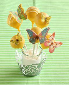 butterflies, cakes, cake pops, favorit recipesdrink, butterfli cake, cakepop