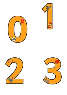 Chinese New Year Display Numbers  - Pop over to our site at www.twinkl.co.uk and check out our lovely Chinese New Year primary teaching resources! chinese new year, display numbers, counting, numeracy #chinese_new_year #teaching_resources