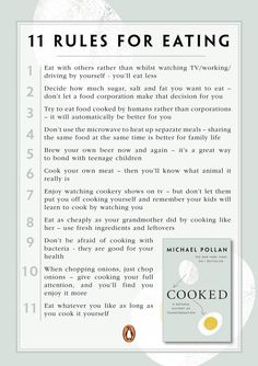 11 Rules for Eating from Michael Pollan
