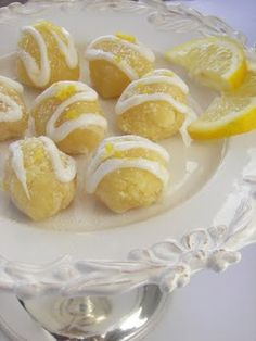 Lemon brownie bites