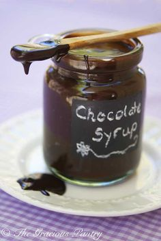 Clean Eating Chocolate Syrup