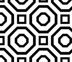 Geometry Black fabric by alicia_vance on Spoonflower - custom fabric