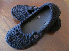Flip flop crocheted slippers