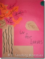 L is for Leaves fall leaves, preschool printables, toddler crafts, unit studies, fall crafts, fall autumn, alphabet books, craft ideas, lesson plans