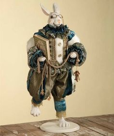 White Rabbit collectible from Bethany Lowe available at Silly Dilly's.