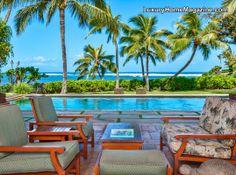 Fabulous oceanfront estate #pool #hawaii #luxury #homes #backyard #ocean