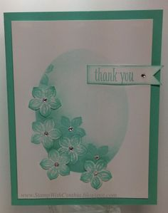 Thursday, 13 March 2014 Stamp With Cynthia: Thankful Thursday - Sponged Oval Frame Petite Petals