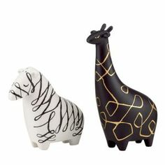 WOODLAND PARK ZEBRA AND GIRAFFE SALT & PEPPER SET