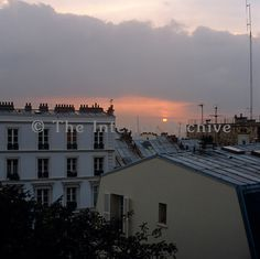 The setting winter sun across the rooftops of Paris can be seen from the windows of Gustave Moreau's atelier - Photographer: Fritz von der Schulenburg -  Country: France -  Location: Paris -  Fritz von der Schulenburg 3247/3353